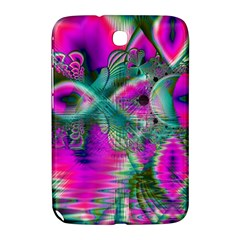 Crystal Flower Garden, Abstract Teal Violet Samsung Galaxy Note 8 0 N5100 Hardshell Case  by DianeClancy