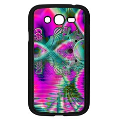 Crystal Flower Garden, Abstract Teal Violet Samsung Galaxy Grand Duos I9082 Case (black) by DianeClancy