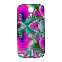 Crystal Flower Garden, Abstract Teal Violet Samsung Galaxy S4 I9500/i9505  Hardshell Back Case