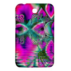 Crystal Flower Garden, Abstract Teal Violet Samsung Galaxy Tab 3 (7 ) P3200 Hardshell Case  by DianeClancy