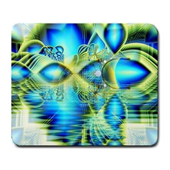 Crystal Lime Turquoise Heart Of Love, Abstract Large Mouse Pad (rectangle) by DianeClancy