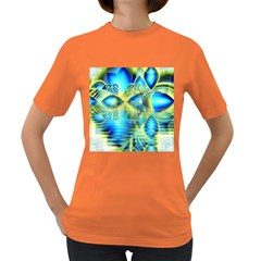 Crystal Lime Turquoise Heart Of Love, Abstract Women s T Shirt (colored) by DianeClancy