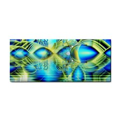 Crystal Lime Turquoise Heart Of Love, Abstract Hand Towel by DianeClancy
