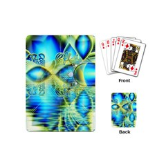 Crystal Lime Turquoise Heart Of Love, Abstract Playing Cards (mini) by DianeClancy
