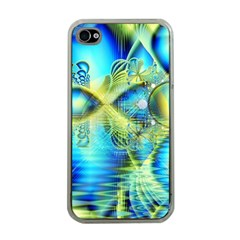 Crystal Lime Turquoise Heart Of Love, Abstract Apple Iphone 4 Case (clear) by DianeClancy