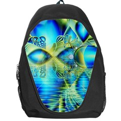 Crystal Lime Turquoise Heart Of Love, Abstract Backpack Bag by DianeClancy