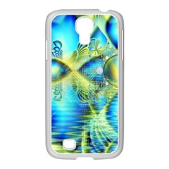 Crystal Lime Turquoise Heart Of Love, Abstract Samsung Galaxy S4 I9500/ I9505 Case (white) by DianeClancy