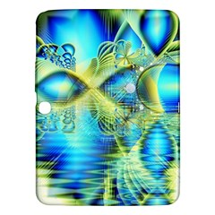 Crystal Lime Turquoise Heart Of Love, Abstract Samsung Galaxy Tab 3 (10 1 ) P5200 Hardshell Case  by DianeClancy