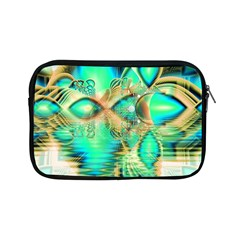 Golden Teal Peacock, Abstract Copper Crystal Apple Ipad Mini Zippered Sleeve by DianeClancy