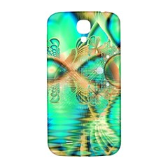 Golden Teal Peacock, Abstract Copper Crystal Samsung Galaxy S4 I9500/i9505  Hardshell Back Case by DianeClancy