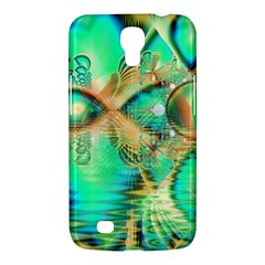 Golden Teal Peacock, Abstract Copper Crystal Samsung Galaxy Mega 6 3  I9200 Hardshell Case by DianeClancy