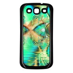 Golden Teal Peacock, Abstract Copper Crystal Samsung Galaxy S3 Back Case (black) by DianeClancy