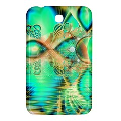 Golden Teal Peacock, Abstract Copper Crystal Samsung Galaxy Tab 3 (7 ) P3200 Hardshell Case  by DianeClancy