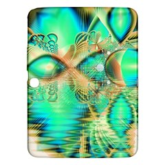 Golden Teal Peacock, Abstract Copper Crystal Samsung Galaxy Tab 3 (10 1 ) P5200 Hardshell Case  by DianeClancy