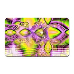 Golden Violet Crystal Heart Of Fire, Abstract Magnet (rectangular) by DianeClancy