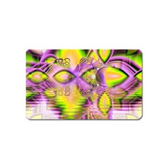 Golden Violet Crystal Heart Of Fire, Abstract Magnet (name Card) by DianeClancy