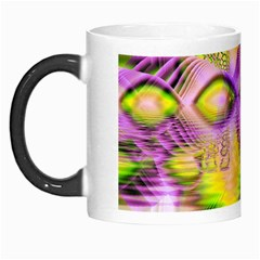 Golden Violet Crystal Heart Of Fire, Abstract Morph Mug by DianeClancy