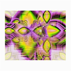 Golden Violet Crystal Heart Of Fire, Abstract Glasses Cloth (small, Two Sided) by DianeClancy