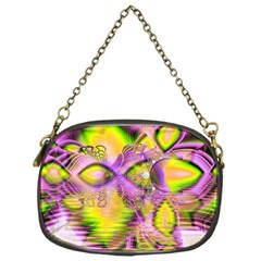 Golden Violet Crystal Heart Of Fire, Abstract Chain Purse (one Side) by DianeClancy