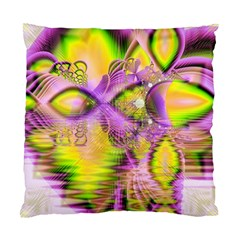 Golden Violet Crystal Heart Of Fire, Abstract Cushion Case (two Sided)  by DianeClancy