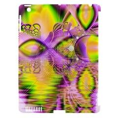 Golden Violet Crystal Heart Of Fire, Abstract Apple Ipad 3/4 Hardshell Case (compatible With Smart Cover) by DianeClancy