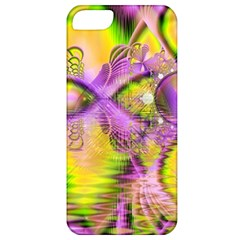 Golden Violet Crystal Heart Of Fire, Abstract Apple Iphone 5 Classic Hardshell Case by DianeClancy
