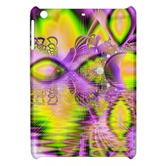 Golden Violet Crystal Heart Of Fire, Abstract Apple Ipad Mini Hardshell Case by DianeClancy