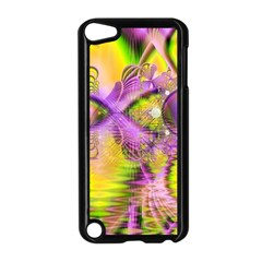 Golden Violet Crystal Heart Of Fire, Abstract Apple Ipod Touch 5 Case (black) by DianeClancy