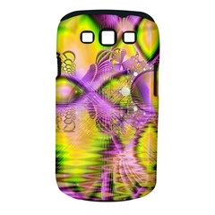 Golden Violet Crystal Heart Of Fire, Abstract Samsung Galaxy S Iii Classic Hardshell Case (pc+silicone) by DianeClancy