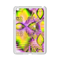 Golden Violet Crystal Heart Of Fire, Abstract Apple Ipad Mini 2 Case (white) by DianeClancy