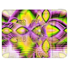 Golden Violet Crystal Heart Of Fire, Abstract Samsung Galaxy Tab 7  P1000 Flip Case by DianeClancy