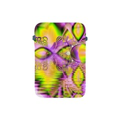 Golden Violet Crystal Heart Of Fire, Abstract Apple Ipad Mini Protective Sleeve by DianeClancy
