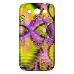 Golden Violet Crystal Heart Of Fire, Abstract Samsung Galaxy Mega 5 8 I9152 Hardshell Case  by DianeClancy