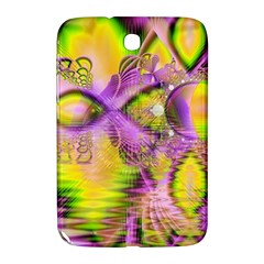 Golden Violet Crystal Heart Of Fire, Abstract Samsung Galaxy Note 8 0 N5100 Hardshell Case  by DianeClancy