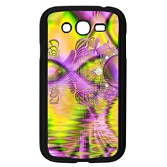 Golden Violet Crystal Heart Of Fire, Abstract Samsung Galaxy Grand Duos I9082 Case (black)