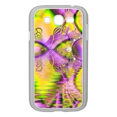 Golden Violet Crystal Heart Of Fire, Abstract Samsung Galaxy Grand Duos I9082 Case (white) by DianeClancy