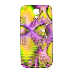 Golden Violet Crystal Heart Of Fire, Abstract Samsung Galaxy S4 I9500/i9505  Hardshell Back Case by DianeClancy