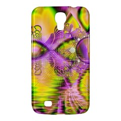 Golden Violet Crystal Heart Of Fire, Abstract Samsung Galaxy Mega 6 3  I9200 Hardshell Case by DianeClancy