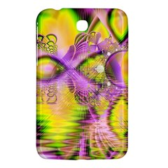 Golden Violet Crystal Heart Of Fire, Abstract Samsung Galaxy Tab 3 (7 ) P3200 Hardshell Case  by DianeClancy