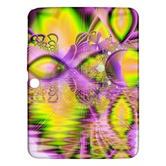 Golden Violet Crystal Heart Of Fire, Abstract Samsung Galaxy Tab 3 (10 1 ) P5200 Hardshell Case  by DianeClancy