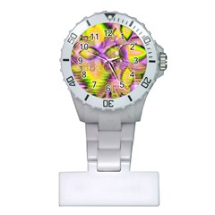 Golden Violet Crystal Heart Of Fire, Abstract Nurses Watch