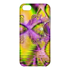 Golden Violet Crystal Heart Of Fire, Abstract Apple Iphone 5c Hardshell Case by DianeClancy