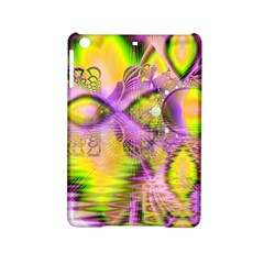 Golden Violet Crystal Heart Of Fire, Abstract Apple Ipad Mini 2 Hardshell Case by DianeClancy