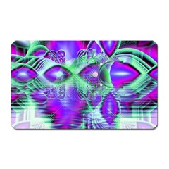 Violet Peacock Feathers, Abstract Crystal Mint Green Magnet (Rectangular) by DianeClancy
