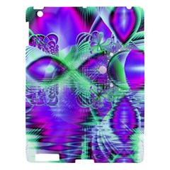 Violet Peacock Feathers, Abstract Crystal Mint Green Apple Ipad 3/4 Hardshell Case by DianeClancy