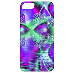 Violet Peacock Feathers, Abstract Crystal Mint Green Apple Iphone 5 Classic Hardshell Case by DianeClancy