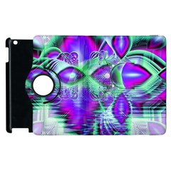 Violet Peacock Feathers, Abstract Crystal Mint Green Apple Ipad 3/4 Flip 360 Case