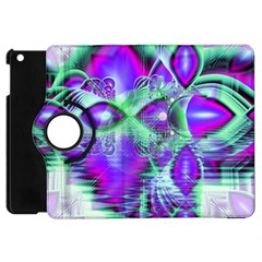 Violet Peacock Feathers, Abstract Crystal Mint Green Apple Ipad Mini Flip 360 Case by DianeClancy