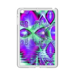 Violet Peacock Feathers, Abstract Crystal Mint Green Apple Ipad Mini 2 Case (white) by DianeClancy