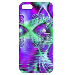Violet Peacock Feathers, Abstract Crystal Mint Green Apple Iphone 5 Hardshell Case With Stand by DianeClancy